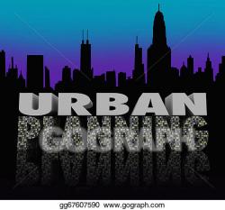 Stock Illustration - Urban planning night city scape skyline ...
