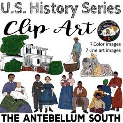 The Civil War Clip Art Set 1: The Antebellum South & Slavery   TpT