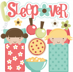 Sleepover SVG files for scrapbooking sleepover clipart cute ...