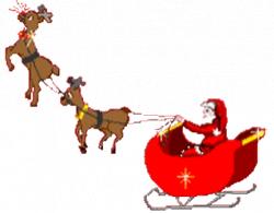Bad Santa In His Sleigh Animated Santa And Sleigh Clipart