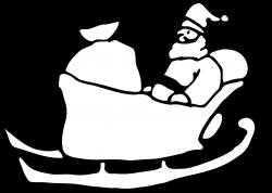 Santa Sleigh Silhouette Clip Art at GetDrawings.com | Free for ...