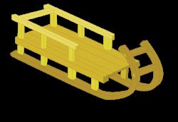 sled raster clipart