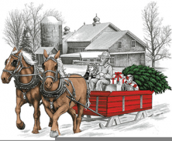 Sleigh Ride Clipart | Free Images at Clker.com - vector clip ...