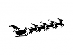 Santas Sleigh Svg Sleigh Svg Reindeer Clipart Silhouette Png Dxf Files For  Cutting File Tshirt Template Vinyl Laser Engraving File