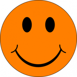 smiley face graphic free | Orange Smiley Face Clip Art | Smile ...