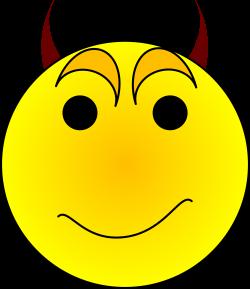 smiley face graphic free | Devil Smiley Face Clip Art | smajlíci a ...