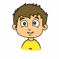 Clipart - smiling face of a child 2