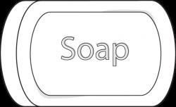soap clip art | Soap Clip Art Image - black and white bar of soap ...