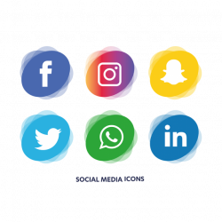 Social Media Icons Set, Social, Media, Icon PNG and Vector for Free ...
