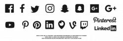Free Social Media Icons SVG: Vector Pack for 2017