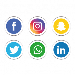 Social media icons set PNG and Vector | Pattern backgrounds ...