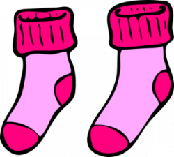 Pink Socks Clip Art at Clker.com - vector clip art online, royalty ...