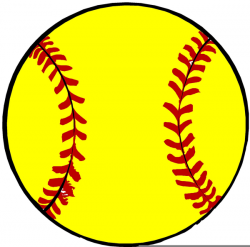 Free Yellow Softball Clipart | Free Images at Clker.com - vector ...