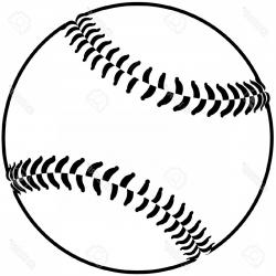 Softball Clipart Black And White Drawn Baseball | CreateMePink