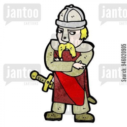 Saxon soldier. - Jantoo Cartoons -