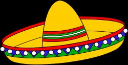 Colorful Mexican Sombrero Hat - Free Clip Art