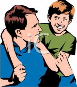 Download Free png happy father and son clipart - DLPNG.com