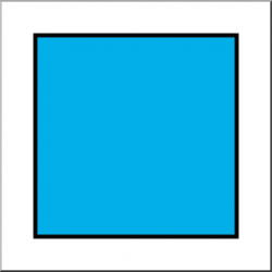 Clip Art: Shapes: Square Color Unlabeled I abcteach.com | abcteach