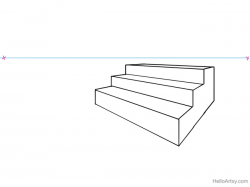 How to Draw Stairs in One- and Two-Point Perspective