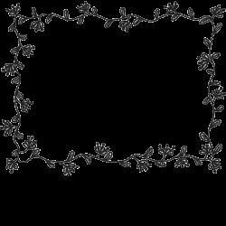 Floral Rectangle Rubber Stamp | Border- Rectangular Stamps – Stamptopia