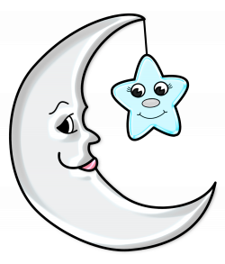 Cute Moon with Star Transparent PNG Picture   Gallery Yopriceville ...