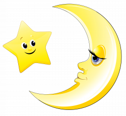 Transparent Cute Moon and Star Clipart Picture | Text stickers ...