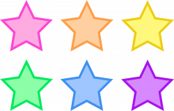 Animated Star Clip Art | Pastel Rainbow Party Stars | Planets/Sun ...