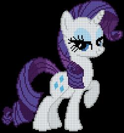 My Little Pony Rarity Cross Stitch Pattern   süslü fikirler ...