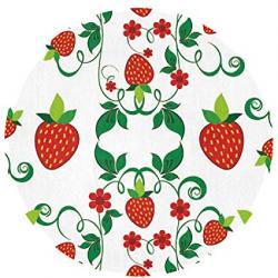 Amazon.com : Feimao Strawberry Fruit Tattoo Anti Slip Round ...