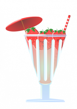 clipartist.net » Clip Art » food strawberry punch erdbeerbowle SVG