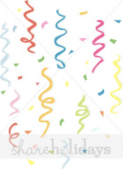 Confetti and Streamers Clipart | Party Clipart & Backgrounds