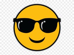 The Sunglasses Emoji - Emoji With Glasses Gif Clipart ...