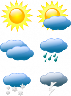 Sunny Weather Clip Art | Weather Symbols clip art | Calendar ideas ...