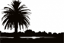 Clipart - Palm Sunset Silhouette