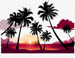 Party Silhouette Clip art - Summer beach silhouette png ...