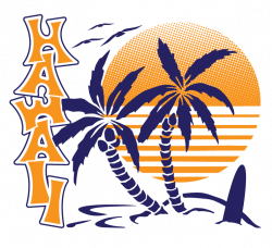 Hawaii Palm Trees Sunset Surfboard Hawaiian Islands Aloha Mens V ...
