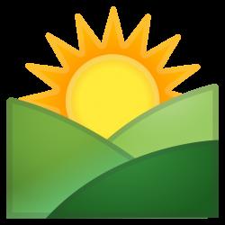 Sunrise over mountains Icon | Noto Emoji Travel & Places Iconset ...