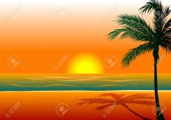 Beach sunset background clipart 6 » Clipart Portal