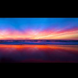 Gradient sunset beach - 4k - www.gnome-look.org