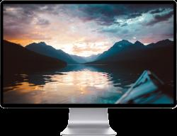 Glossy Sunset Lake 4K - www.opendesktop.org