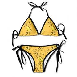 Amazon.com: Leisue Cartoon Yellow Bee Clipart Womens Sexy ...