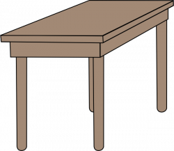 Student Table Clipart