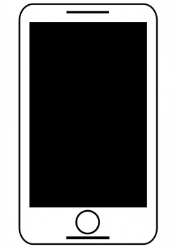 OnlineLabels Clip Art - Smartphone - Tablet Black And White Free ...