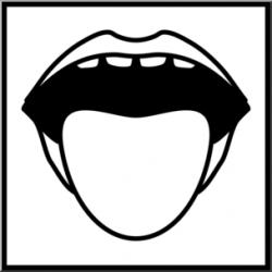 Clip Art: Senses 1 Taste B&W I abcteach.com | abcteach