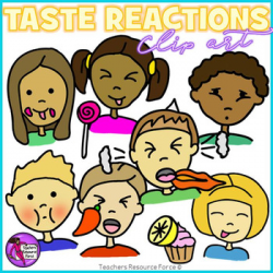 Taste reactions clip art by Teachers Resource Force | TpT