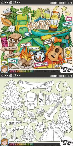 Camping Clip Art: