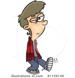 Teenager Clipart #1129149 - Illustration by toonaday