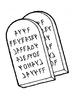 Ten commandments clipart black and white 6 » Clipart Station