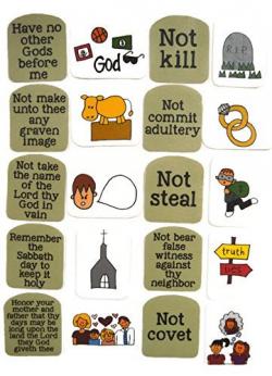 Amazon.com: Ten Commandments Felt Board Story: Handmade