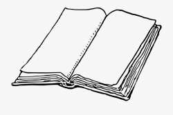 Blank Book Clipart - Book Paper Clipart Black And White ...